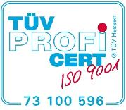 TÜV Zertifikat ISO 9001:2015